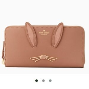 Kate Spade desert muse bunny Lacey wallet